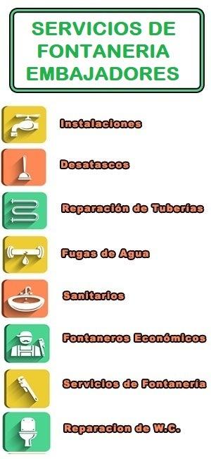 servicios de fontaneria en Embajadores