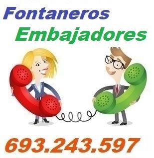 Telefono de la empresa fontaneros Embajadores